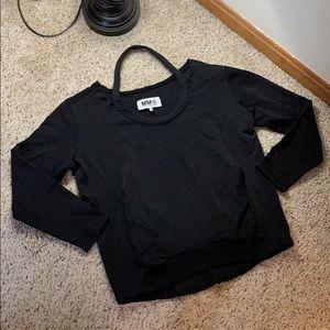 MM6 Maison Margiela Black Halter Neck Sweater- M